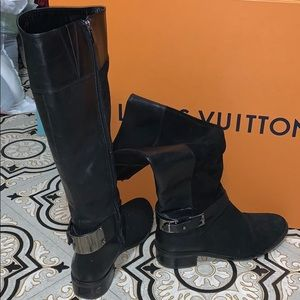 Vince Camuto Black leather knee high boots
